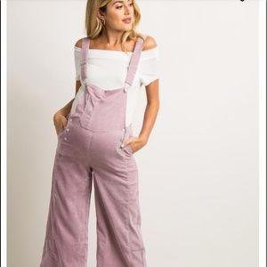 Waverleigh Pink Corduroy Maternity Overalls